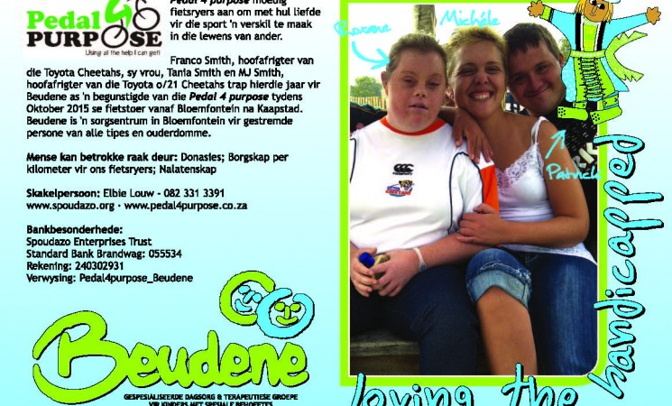 Beudene beneficiary for Pedal4Purpose